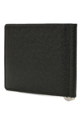 Мужской кожаный зажим для денег BOSS черного цвета, арт. 50454130   Фото 2