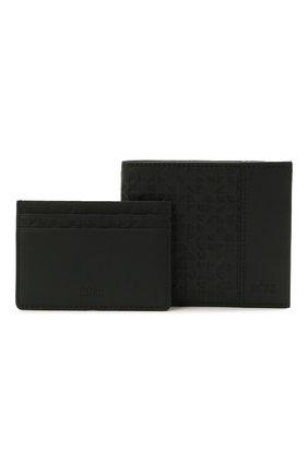 Мужской комплект из портмоне и футляра для кредитных карт BOSS черного цвета, арт. 50454163   Фото 1