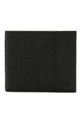 Мужской комплект из портмоне и футляра для кредитных карт BOSS черного цвета, арт. 50454163   Фото 2