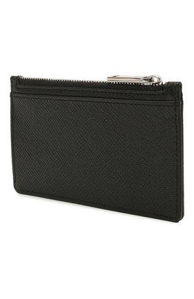 Мужской кожаный футляр для кредитных карт BOSS черного цвета, арт. 50452058   Фото 2