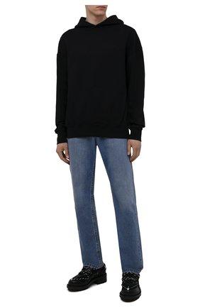 Мужские комбинированные ботинки DSQUARED2 черного цвета, арт. LUM0063 24903914 | Фото 2 (Материал внутренний: Натуральная кожа, Текстиль; Подошва: Массивная; Каблук высота: Высокий; Мужское Кросс-КТ: Ботинки-обувь)