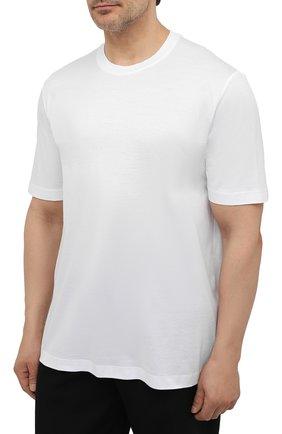 Мужская хлопковая футболка MARCO PESCAROLO белого цвета, арт. JAMES/4363/4XL-8XL   Фото 3 (Big sizes: Big Sizes; Принт: Без принта; Рукава: Короткие; Длина (для топов): Удлиненные; Материал внешний: Хлопок; Стили: Кэжуэл)