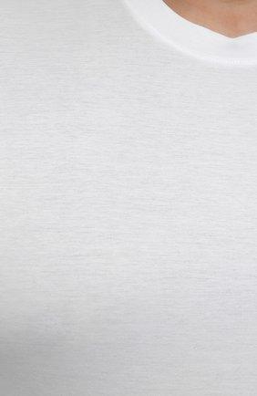 Мужская хлопковая футболка MARCO PESCAROLO белого цвета, арт. JAMES/4363/4XL-8XL   Фото 5 (Big sizes: Big Sizes; Принт: Без принта; Рукава: Короткие; Длина (для топов): Удлиненные; Материал внешний: Хлопок; Стили: Кэжуэл)