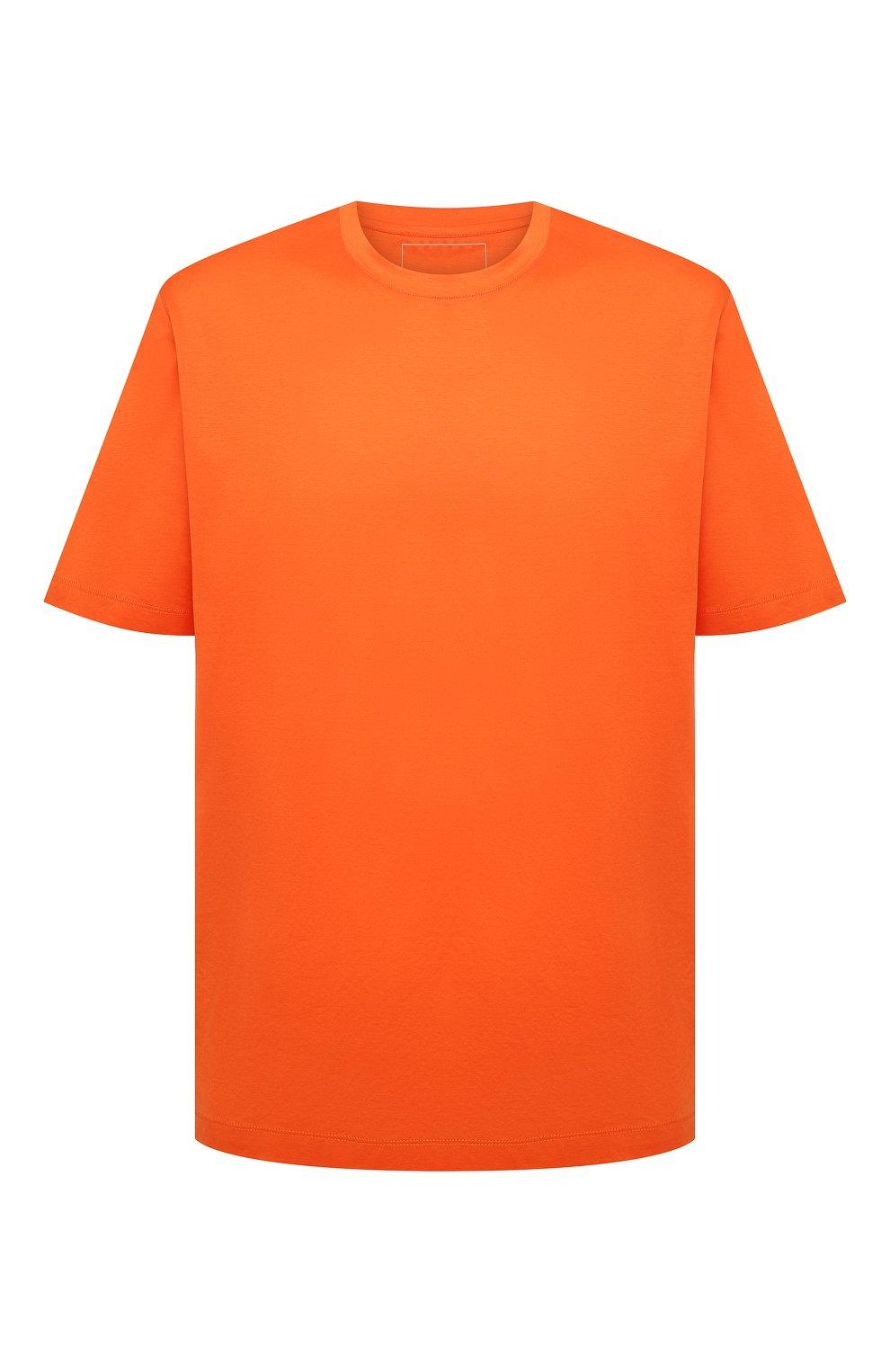 Мужская хлопковая футболка MARCO PESCAROLO оранжевого цвета, арт. JAMES/4363/4XL-8XL   Фото 1 (Big sizes: Big Sizes; Принт: Без принта; Рукава: Короткие; Длина (для топов): Удлиненные; Материал внешний: Хлопок; Стили: Кэжуэл)