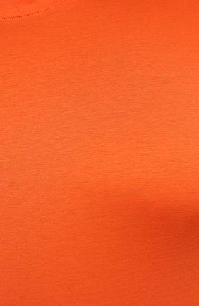 Мужская хлопковая футболка MARCO PESCAROLO оранжевого цвета, арт. JAMES/4363/4XL-8XL   Фото 5 (Big sizes: Big Sizes; Принт: Без принта; Рукава: Короткие; Длина (для топов): Удлиненные; Материал внешний: Хлопок; Стили: Кэжуэл)