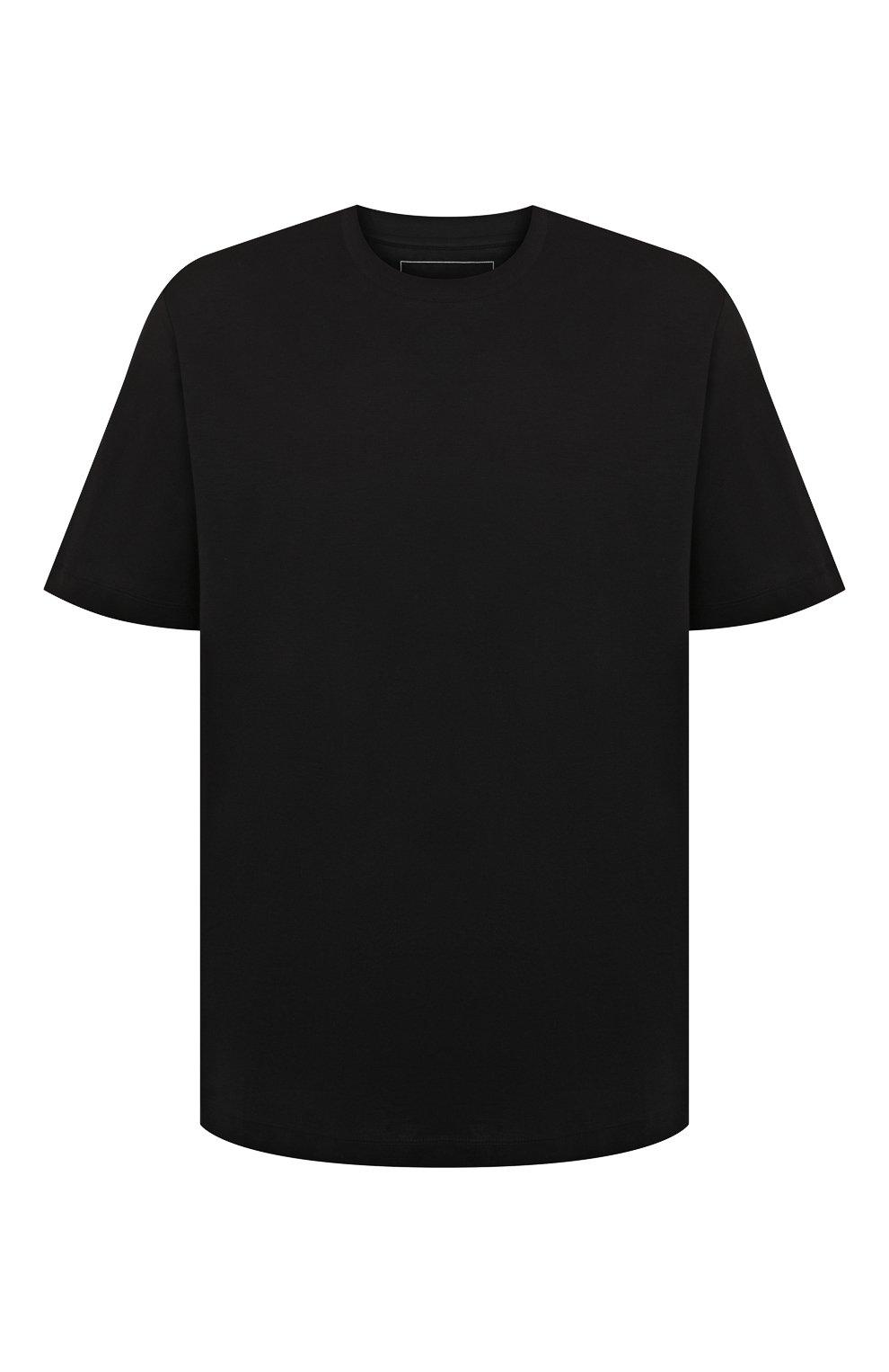 Мужская хлопковая футболка MARCO PESCAROLO черного цвета, арт. JAMES/4363/4XL-8XL | Фото 1 (Big sizes: Big Sizes; Принт: Без принта; Рукава: Короткие; Длина (для топов): Удлиненные; Материал внешний: Хлопок; Стили: Кэжуэл)