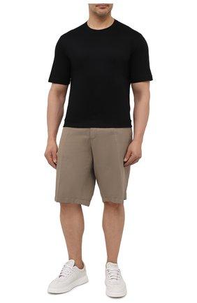 Мужская хлопковая футболка MARCO PESCAROLO черного цвета, арт. JAMES/4363/4XL-8XL | Фото 2 (Big sizes: Big Sizes; Принт: Без принта; Рукава: Короткие; Длина (для топов): Удлиненные; Материал внешний: Хлопок; Стили: Кэжуэл)