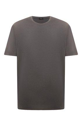 Мужская футболка из хлопка и кашемира KITON темно-бежевого цвета, арт. UMK0029/4XL-8XL | Фото 1