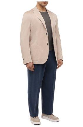 Мужская футболка из хлопка и кашемира KITON темно-бежевого цвета, арт. UMK0029/4XL-8XL | Фото 2