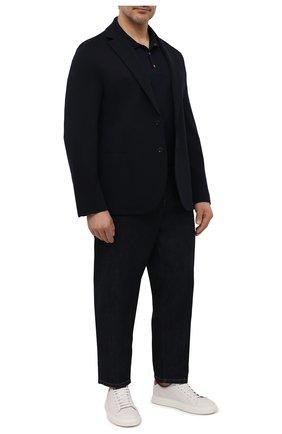 Мужское хлопковое поло KITON темно-синего цвета, арт. UK1089L | Фото 2