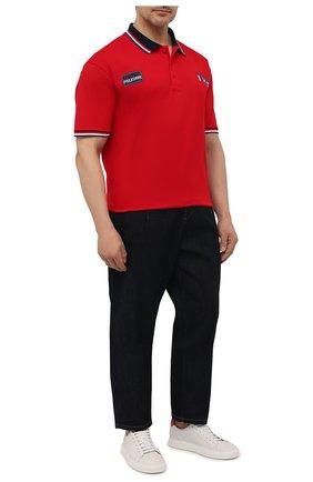 Мужское хлопковое поло PAUL&SHARK красного цвета, арт. 21411303/C00/3XL-6XL | Фото 2