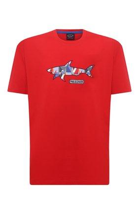 Мужская хлопковая футболка PAUL&SHARK красного цвета, арт. 21411097/C00/3XL-6XL | Фото 1