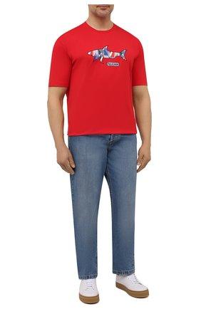 Мужская хлопковая футболка PAUL&SHARK красного цвета, арт. 21411097/C00/3XL-6XL | Фото 2