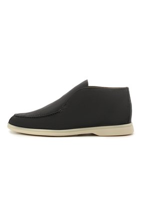 Мужские замшевые ботинки open walk LORO PIANA темно-серого цвета, арт. FAB4368 | Фото 2