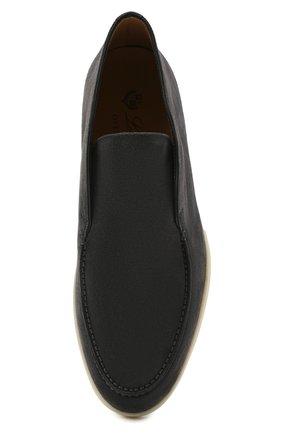 Мужские замшевые ботинки open walk LORO PIANA темно-серого цвета, арт. FAB4368   Фото 4