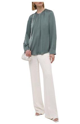 Женская шелковая блузка BOSS зеленого цвета, арт. 50453554 | Фото 2
