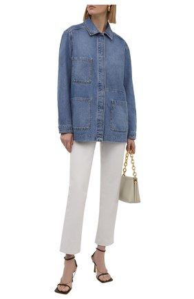 Женская джинсовая куртка BOSS синего цвета, арт. 50453844 | Фото 2