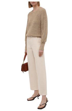 Женские джинсы BOSS кремвого цвета, арт. 50448396 | Фото 2