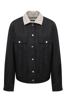 Женская джинсовая куртка JIL SANDER темно-синего цвета, арт. JPPS664235-WS246700   Фото 1