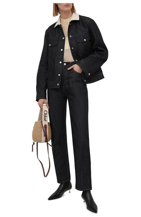 Женская джинсовая куртка JIL SANDER темно-синего цвета, арт. JPPS664235-WS246700   Фото 2