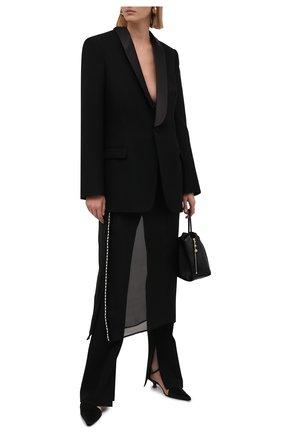 Женская шелковая юбка JIL SANDER черного цвета, арт. JSWS356480-WS282500 | Фото 2