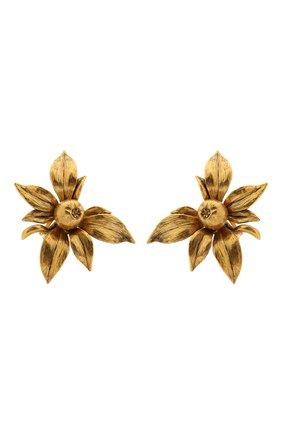 Женские клипсы SAINT LAURENT золотого цвета, арт. 654523/Y1500 | Фото 1