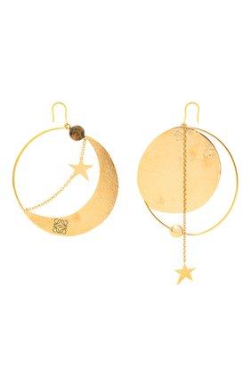 Женские серьги ellipse loewe x paula's ibiza LOEWE золотого цвета, арт. J901239X03   Фото 1