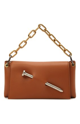 Женская сумка nail OFF-WHITE коричневого цвета, арт. 0WNN024S21LEA001 | Фото 1