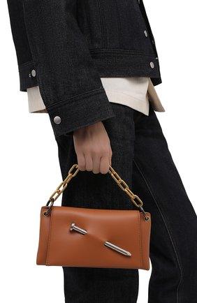 Женская сумка nail OFF-WHITE коричневого цвета, арт. 0WNN024S21LEA001 | Фото 2