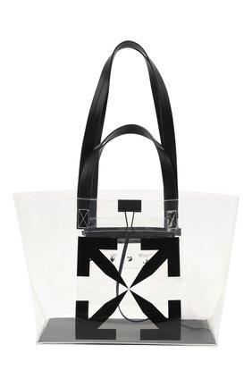 Женский сумка-шопер arrow small OFF-WHITE прозрачного цвета, арт. 0MNA161S21PLA001/W | Фото 1