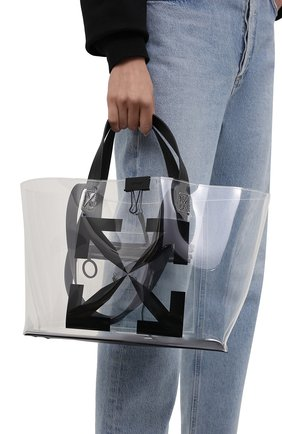 Женский сумка-шопер arrow small OFF-WHITE прозрачного цвета, арт. 0MNA161S21PLA001/W | Фото 2