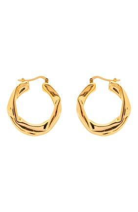 Женские серьги JIL SANDER золотого цвета, арт. JSWS837161/WSS79009   Фото 1