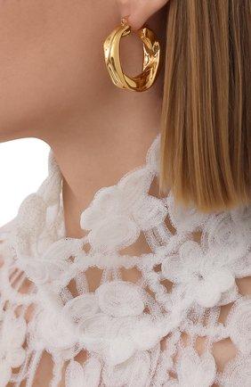 Женские серьги JIL SANDER золотого цвета, арт. JSWS837161/WSS79009   Фото 2