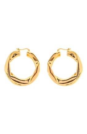 Женские серьги JIL SANDER золотого цвета, арт. JSWS837160/WSS79009   Фото 1