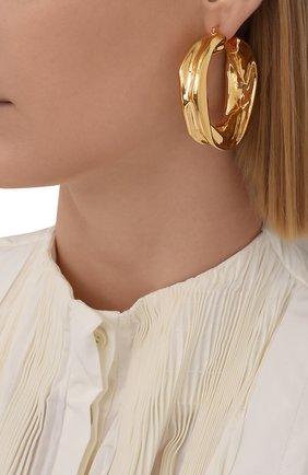 Женские серьги JIL SANDER золотого цвета, арт. JSWS837160/WSS79009   Фото 2