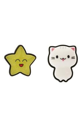 Женские серьги sticker cat star BALENCIAGA разноцветного цвета, арт. 659969/TZ25Z | Фото 1