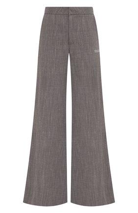 Женские брюки изо льна и вискозы OFF-WHITE серого цвета, арт. 0WCA127S21FAB001 | Фото 1