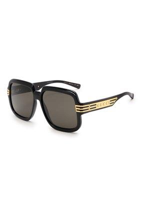 Женские солнцезащитные очки GUCCI черного цвета, арт. GG0979S 001   Фото 1