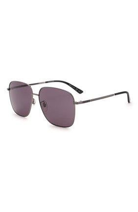 Мужские солнцезащитные очки GUCCI серого цвета, арт. GG0987SA 001   Фото 1