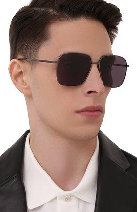 Мужские солнцезащитные очки GUCCI серого цвета, арт. GG0987SA 001   Фото 2