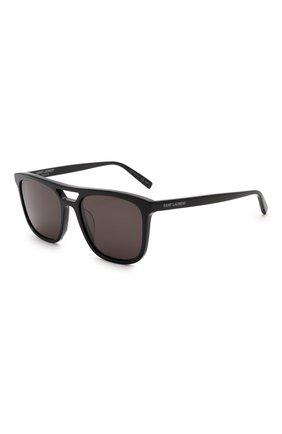 Женские солнцезащитные очки SAINT LAURENT черного цвета, арт. SL 455 001 | Фото 1