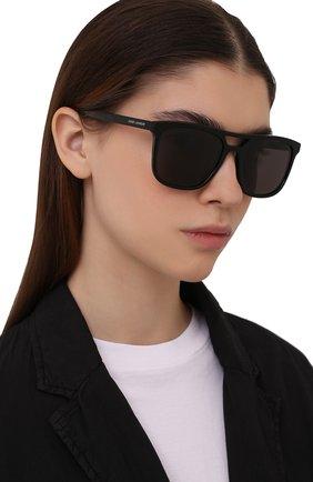 Женские солнцезащитные очки SAINT LAURENT черного цвета, арт. SL 455 001 | Фото 2