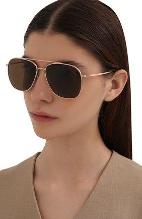Женские солнцезащитные очки OLIVER PEOPLES коричневого цвета, арт. 1278ST-529257 | Фото 2