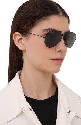 Женские солнцезащитные очки RAY-BAN черного цвета, арт. 3025-002/48 | Фото 2