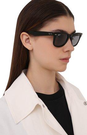 Женские солнцезащитные очки RAY-BAN черного цвета, арт. 2140-6495R5 | Фото 2