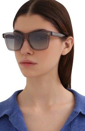Женские солнцезащитные очки OLIVER PEOPLES серого цвета, арт. 5444SU-11326I | Фото 2