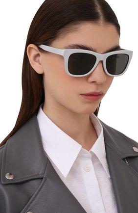 Женские солнцезащитные очки BALENCIAGA серебряного цвета, арт. BB0151S 003 | Фото 2