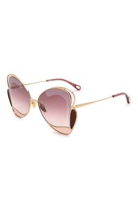 Женские солнцезащитные очки CHLOÉ фиолетового цвета, арт. CH0048S 004   Фото 1