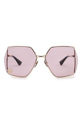 Женские солнцезащитные очки GUCCI сиреневого цвета, арт. GG0817S 007 | Фото 3