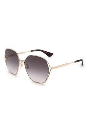 Женские солнцезащитные очки GUCCI серого цвета, арт. GG0818SA 005   Фото 1